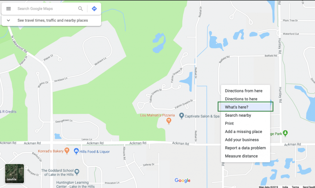 How do I find the GPS coordinates for an address?