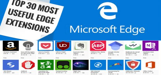 Top 30 Most Useful Microsoft Edge Extensions in Windows 10/8.1/8/7 & MacOS