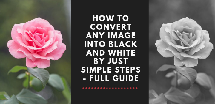 How to Convert any Image into Black and White by Just simple Steps - Full Guide