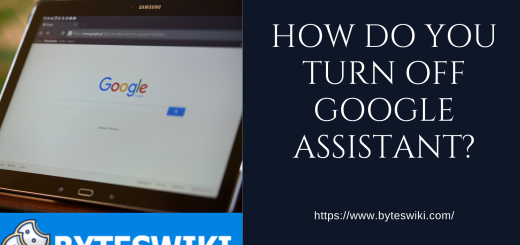 How do you turn off Google assistant?